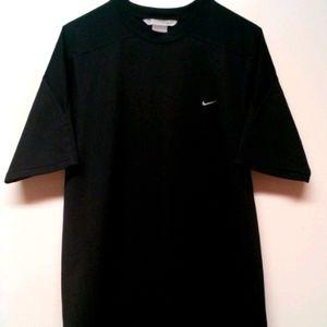 Vintage Nike Gray Tag Mens L Black Mesh Short Slee